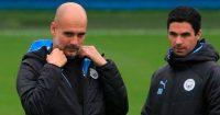 Mikel Arteta Pep Guardiola Manchester City