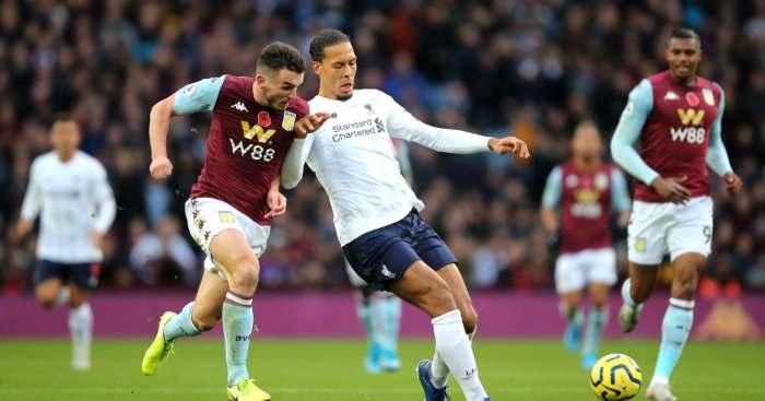 Virgil van Dijk John McGinn Liverpool Aston Villa