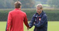 Nicklas Bendtner Arsene Wenger Arsenal