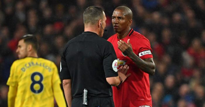 Ashley Young Manchester United VAR