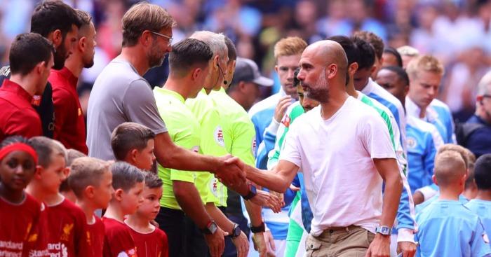 Pep Guardiola Jurgen Klopp Manchester City Liverpool
