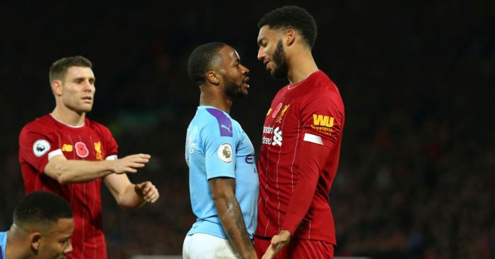 Raheem Sterling Joe Gomez Manchester City Liverpool
