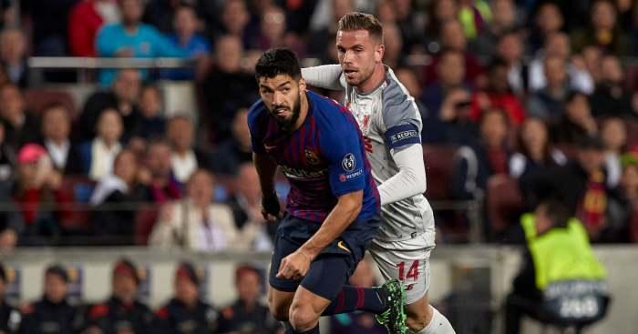 Luis Suarez Jordan Henderson Liverpool Barcelona