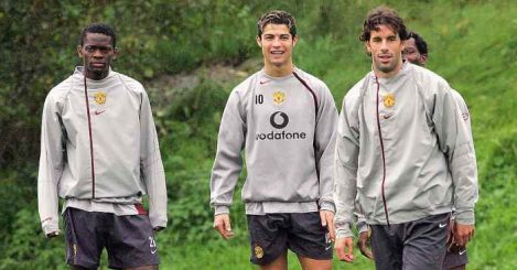 Cristiano Ronaldo Louis Saha Ruud van Nistelrooy Manchester United