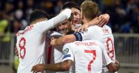 England players celebrate Kosovo