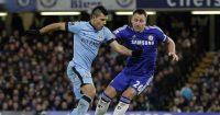 Sergio Aguero John Terry Manchester City Chelsea