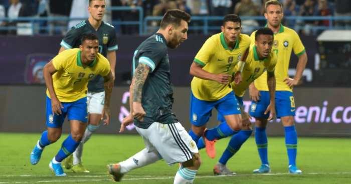 Lionel Messi Argentina Brazil