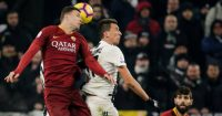Edin Dzeko Mario Mandzukic Roma Juventus