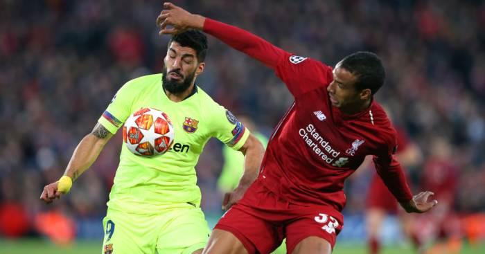 Joel Matip Luis Suarez Liverpool Barcelona