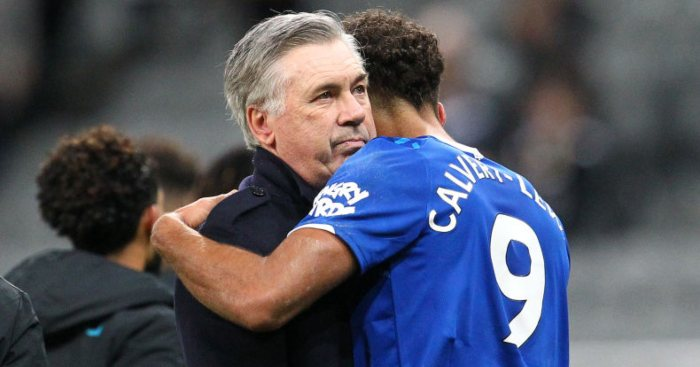 Carlo Ancelotti Dominic Calvert-Lewin Everton