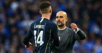 Pep Guardiola Aymeric Laporte Manchester City
