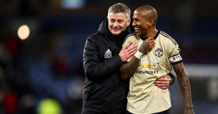 Ashley Young Ole Gunnar Solskjaer Manchester United