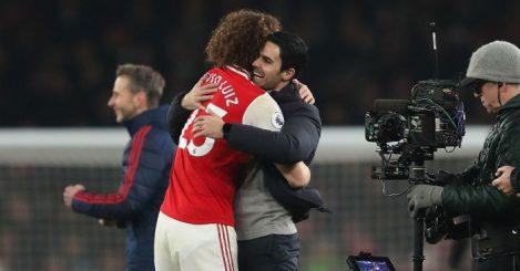 David Luiz Mikel Arteta Arsenal