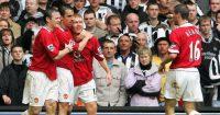 Manchester United Gary Neville Roy Keane Paul Scholes