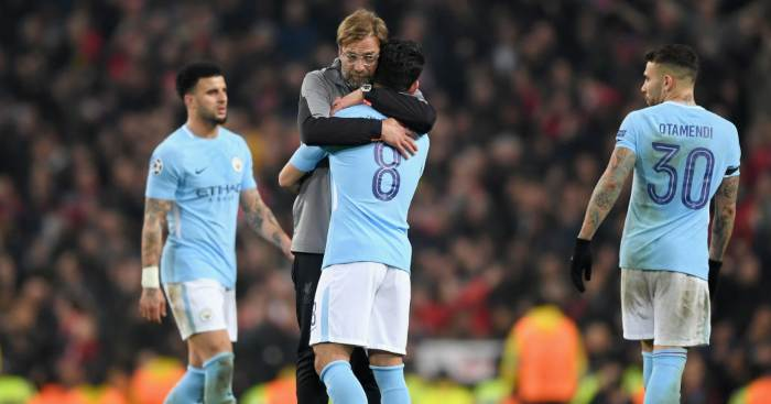 Jurgen Klopp Liverpool Ilkay Gundogan Manchester City