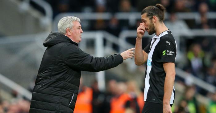 Steve Bruce Andy Carroll Newcastle United