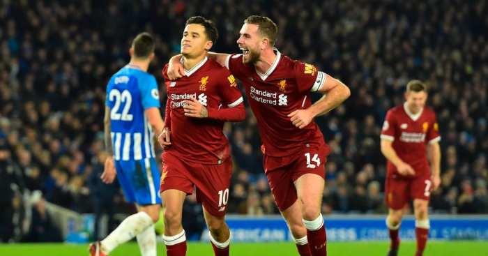 Philippe Coutinho Jordan Henderson Liverpool