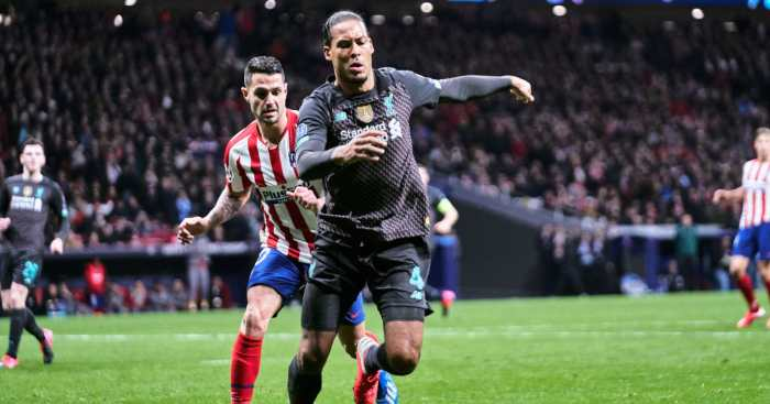 Virgil van Dijk Liverpool Atletico Madrid
