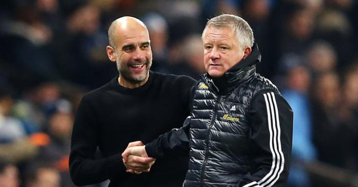 Chris Wilder Pep Guardiola Sheffield United Manchester City
