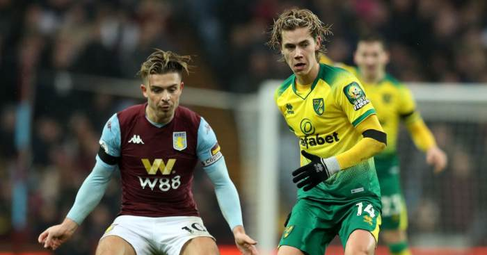 Jack Grealish Todd Cantwell Aston Villa Norwich City