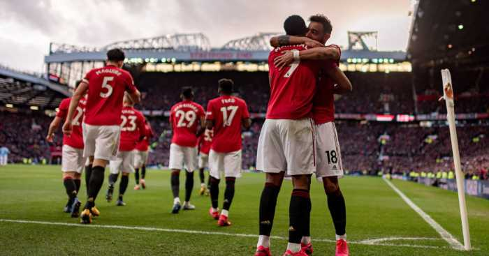 Bruno Fernandes Anthony Martial Manchester United