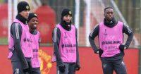 Angel Gomes Bruno Fernandes Aaron Wan-Bissaka Manchester United