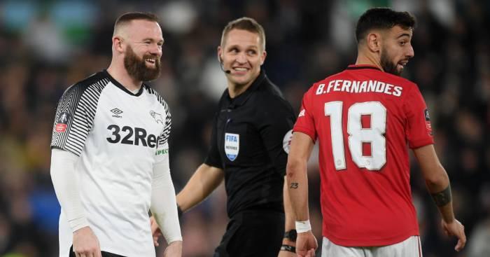 Wayne Rooney Derby Manchester United Bruno Fernandes