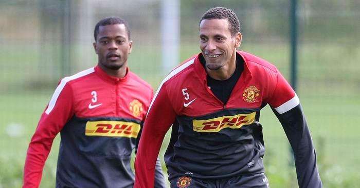 Patrice Evra Rio Ferdinand Manchester United