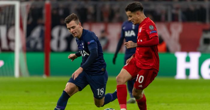 Philippe Coutinho Giovani Lo Celso Tottenham Bayern Munich