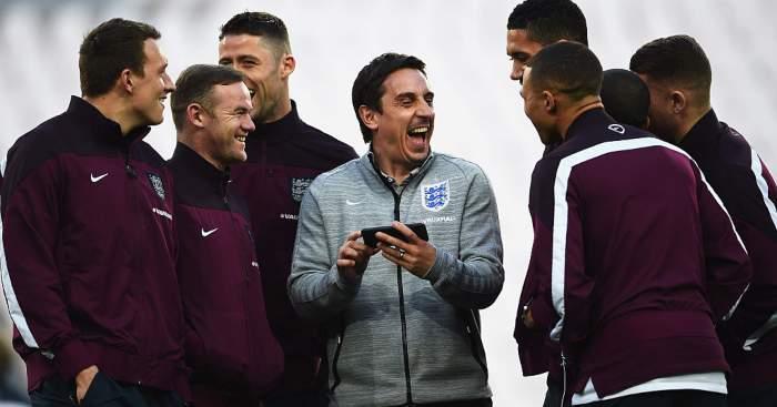 Gary Neville Wayne Rooney England