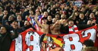 Atletico Madrid fans Liverpool Anfield