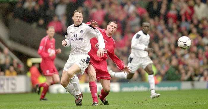 Jamie Carragher Teddy Sheringham Liverpool Manchester United