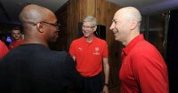 Arsene Wenger Ian Wright Arsenal