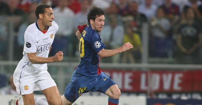 Rio Ferdinand Lionel Messi Manchester United Barcelona