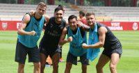 Shkodran Mustafi Lucas Perez Arsenal