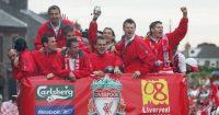 Igor Biscan Steven Gerrard John Arne Riise Liverpool
