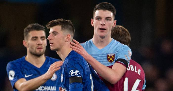 Declan Rice Mason Mount West Ham Chelsea