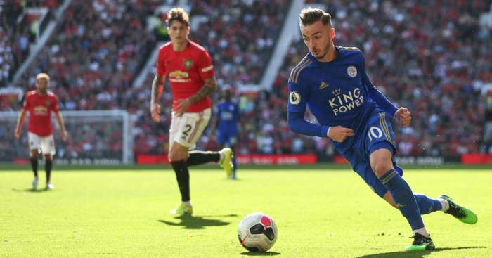 James Maddison Leicester City Man Utd
