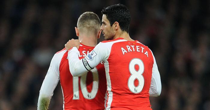Mikel Arteta Jack Wilshere Arsenal