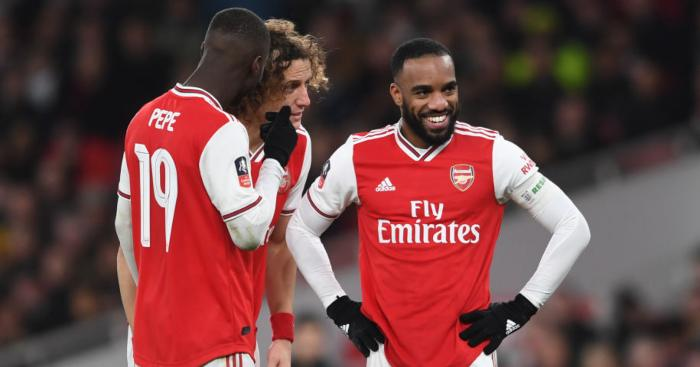 Nicolas Pepe Alexandre Lacazette David Luiz Arsenal