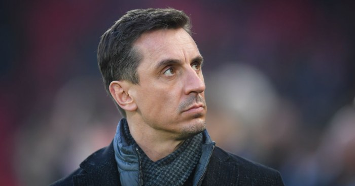 Gary Neville Sky Sports Premier League Man Utd