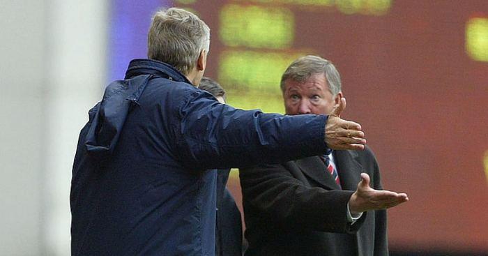 Arsene Wenger Sir Alex Ferguson Man Utd Arsenal