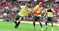 Wes Brown Dimitar Berbatov Man Utd