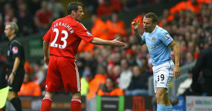 Jamie Carragher Craig Bellamy Liverpool Man City
