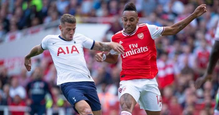 Toby Alderweireld Pierre-Emerick Aubameyang Spurs Arsenal