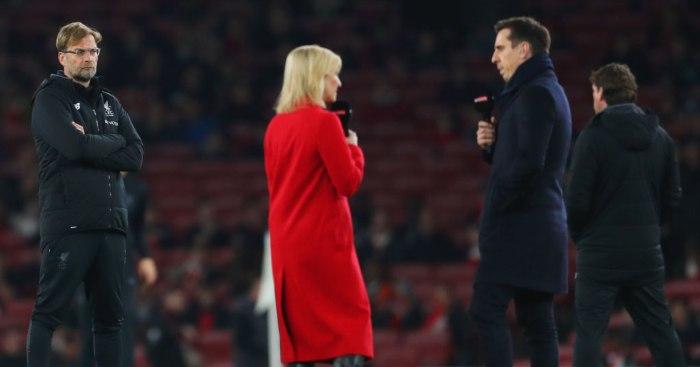 Jurgen Klopp Liverpool Gary Neville Man Utd