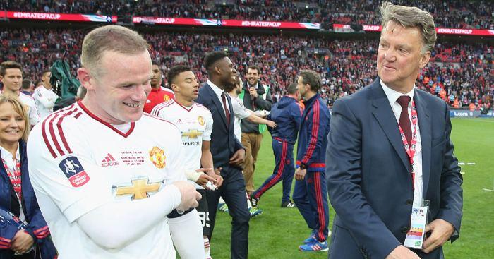 Wayne Rooney Louis van Gaal Man Utd
