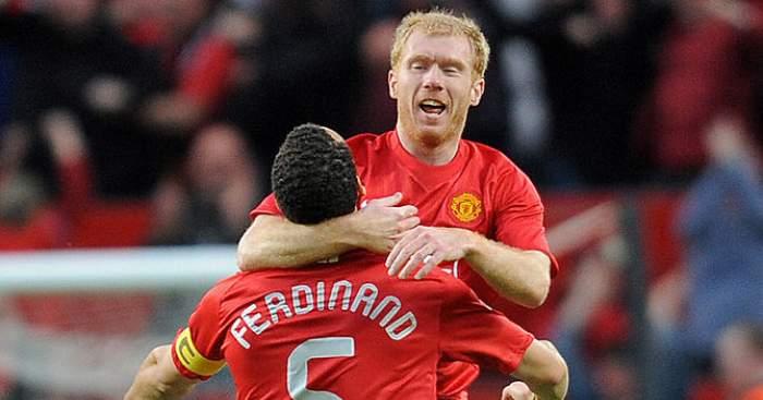 Paul Scholes Rio Ferdinand Man Utd