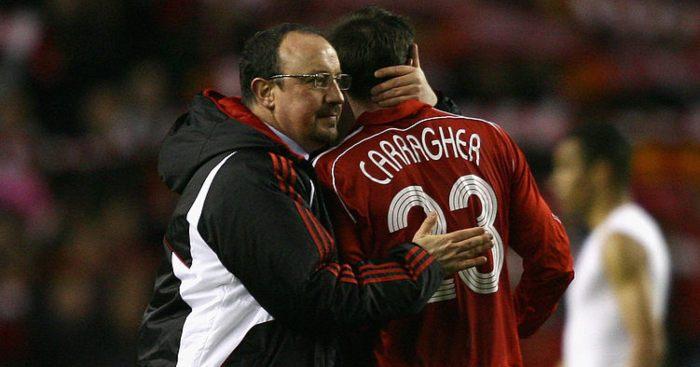 Rafa Benitez Jamie Carragher Liverpool
