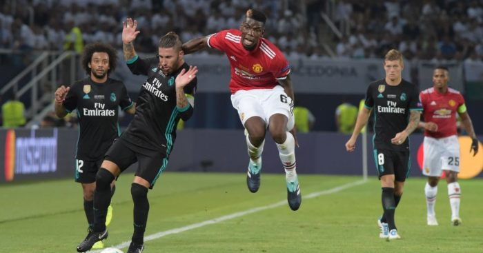 Sergio Ramos Paul Pogba Man Utd Real Madrid